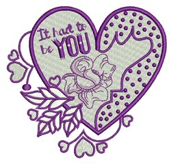 Had To Be You embroidery design