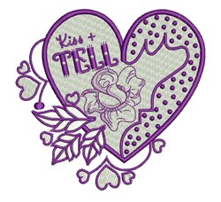 Kiss & Tell embroidery design