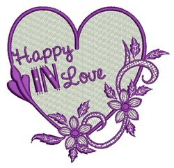Happy In Love embroidery design