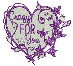 Crazy For You embroidery design