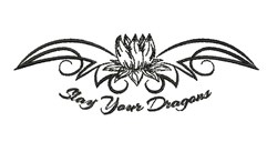 Slay Your Dragons embroidery design