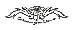 Believe In Dreams embroidery design