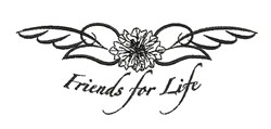 Friends For Life embroidery design
