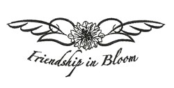 Friendship In Bloom embroidery design