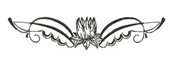 Lotus Flower embroidery design