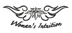 Womans Intuition embroidery design
