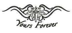 Yours Forever embroidery design