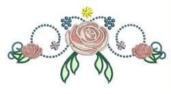 Rose Decoration embroidery design