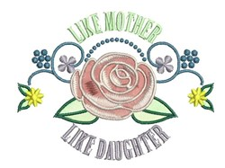 Like Mother embroidery design