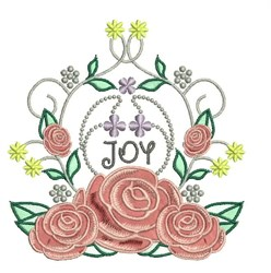 Joy Roses embroidery design