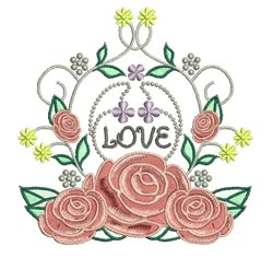Love Roses embroidery design