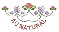 Au Natural embroidery design