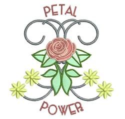 Petal Power embroidery design
