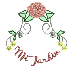 Mi Jardin embroidery design