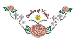 Garden Of Weedin embroidery design