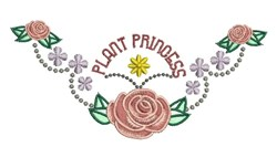 Plant Princess embroidery design