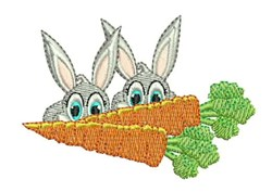 Carrot Bunnies embroidery design