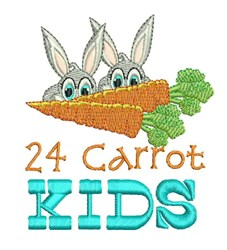 24 Carrot Kids embroidery design
