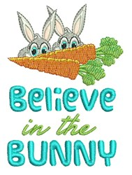 Believe In Bunny embroidery design