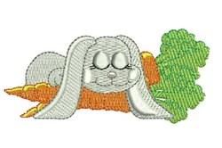 Sleepy Bunny embroidery design