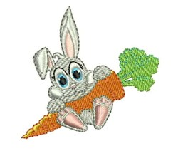 Carrot Rabbit embroidery design