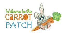Carrot Patch embroidery design