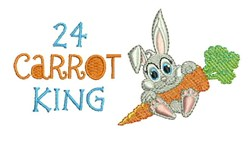 24 Carrot King embroidery design