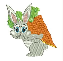 Heavy Carrot embroidery design