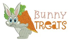 Bunny Treats embroidery design