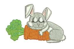 Bunny Nap embroidery design