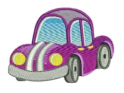 Purple Car embroidery design