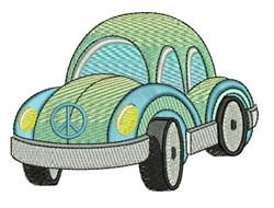 Peace Car embroidery design