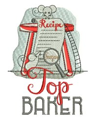 Top Baker embroidery design