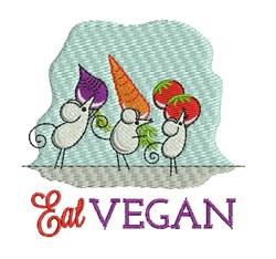 Eat Vegan embroidery design