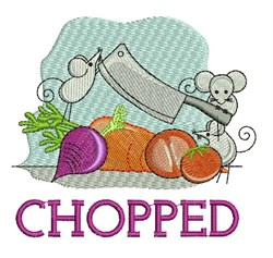 Chopped embroidery design