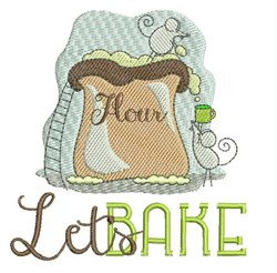 Lets Bake embroidery design