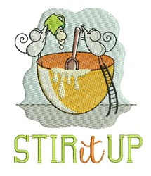 Stir It Up embroidery design