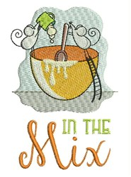 In The Mix embroidery design