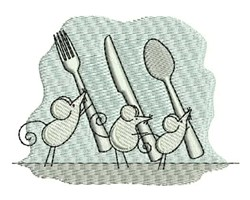 Cutlery Mice embroidery design