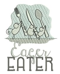 Eager Eater embroidery design