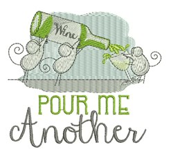 Pour Me Another embroidery design