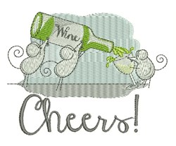 Cheers Mice embroidery design