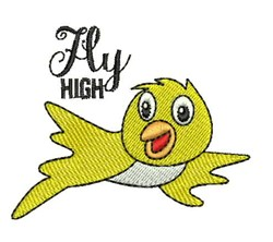 Fly High embroidery design