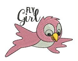 Fly Girl embroidery design