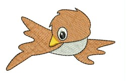 Brown Bird embroidery design