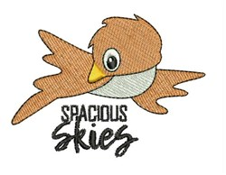 Spacious Skies embroidery design