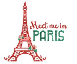 Meet Me In Paris embroidery design