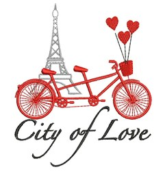 City Of Love embroidery design