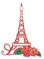 Eiffel Roses embroidery design