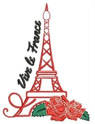 Vive Le France embroidery design